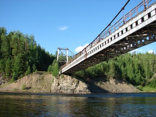 Подвесной мост через Бирюсу